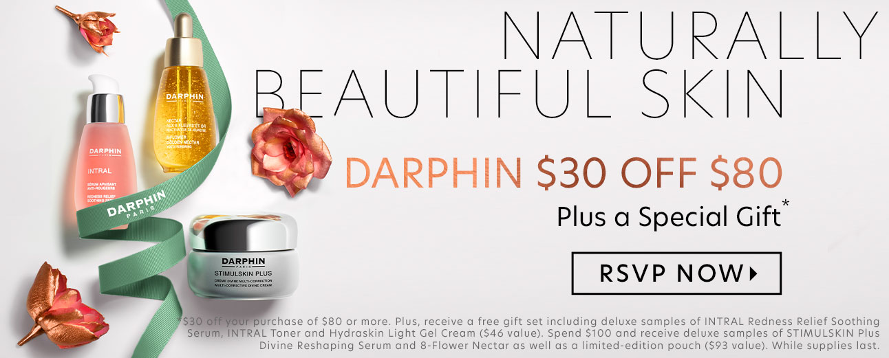 Darphin: $30 Off $80, Plus a Free Gift